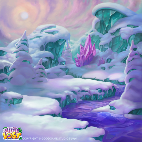 A little Lost - snow background