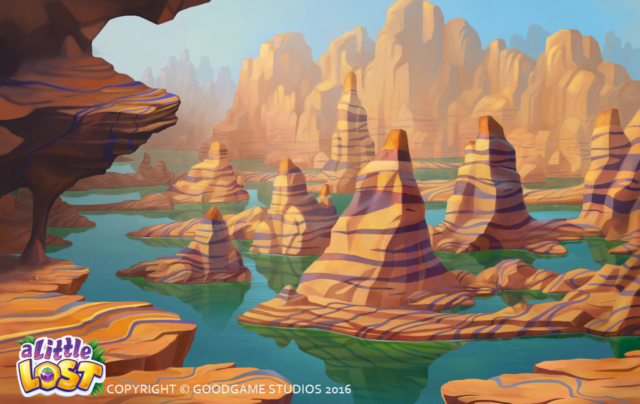 A Little Lost - Canyon Background